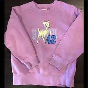 Disney Store Shirts & Tops - 💜Kids Disney Purple Bambi Sweatshirt size 4T💜